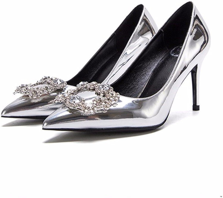 HXVU56546 Die High-Heel Damenschuhe Die Flachwasser- Bohren Party Single Party Schuhe Schuhe