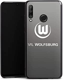 DeinDesign Hard Case kompatibel mit Huawei P30 Lite Schutzhülle schwarz Smartphone Backcover Offizielles Lizenzprodukt VFL Wolfsburg Logo