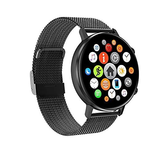 Reloj inteligente/seguimiento de actividad física/pantalla táctil bluetooth/monitor de sueño IP67 impermeable deportes fitness pulsera-acero negro