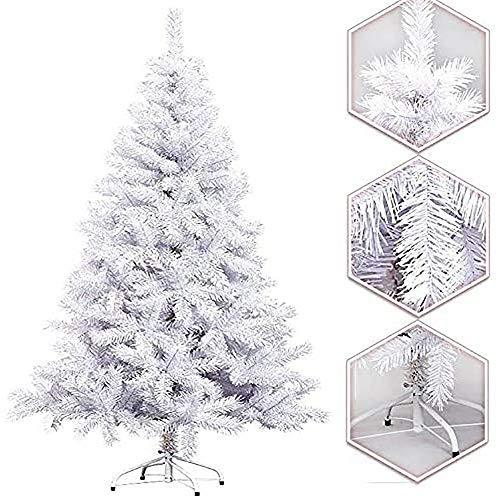Arcoiris Árbol de Navidad Artificial Acebo, Natural Verde, Material PVC, Soporte deMetal (210CM, Arbol Navidad Blanco)