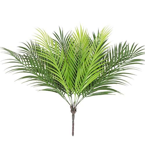 Planta artificial de helecho de Boston, palmera de hojas tropicales, plantas falsas para decoración...