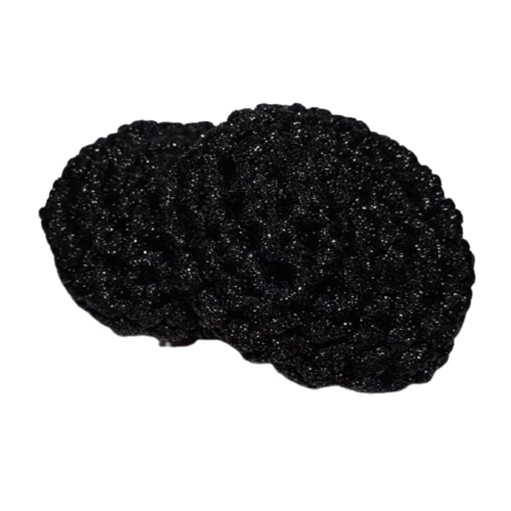 Black Crocheted Reusable Nylon Pot Scrubbers Set Raleigh Mall 2 Dish Scru of Limited time trial price