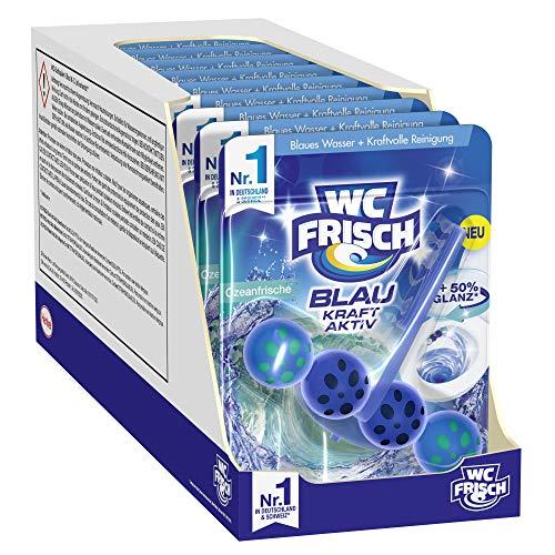WC Frisch Blau Kraft-Aktiv Ozeanfrische, WC-Reiniger und Farbspüler, 10er Pack(10 x 50 g)