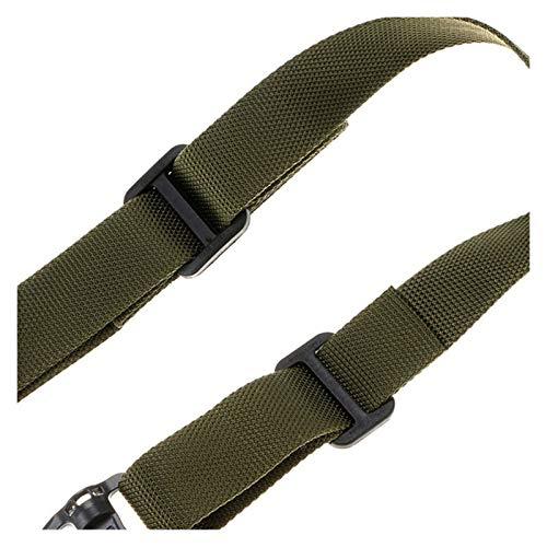 KTSM-Stop-T Duradero Misión de Cuerda táctica Ajustable Dos 2 Puntos Táctico Rifle Pistola Sling Destacado Rápido Trampa para Cuerda de Nylon Outdoor Cuerda Correa de Rifle (Color : Green)