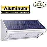 Licwshi Luci solari 1100lm 4500mAh esterna impermeabile lega di alluminio Housing, 48LED r...