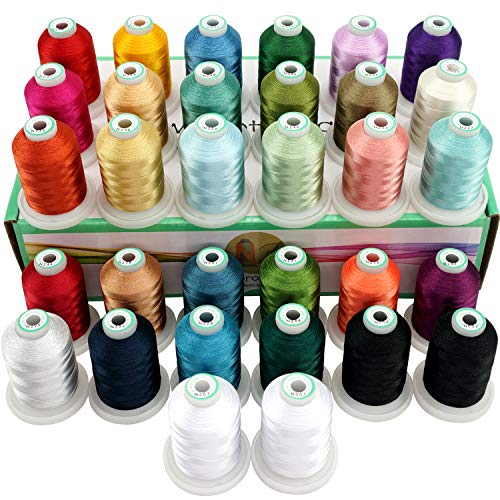 Check Out This New brothread 32 Spools Polyester Embroidery Machine Thread Kit 1000M (1100Y) Each Sp...