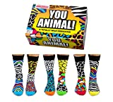 Trendaffe Calcetines You Animal Oddsocks en 39-46 en un juego de 6 unidades, diseño de animales salvajes