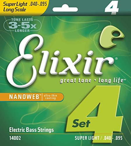 Elixir 14002 - Juego de cuerdas para bajo eléctrico.040-0.95
