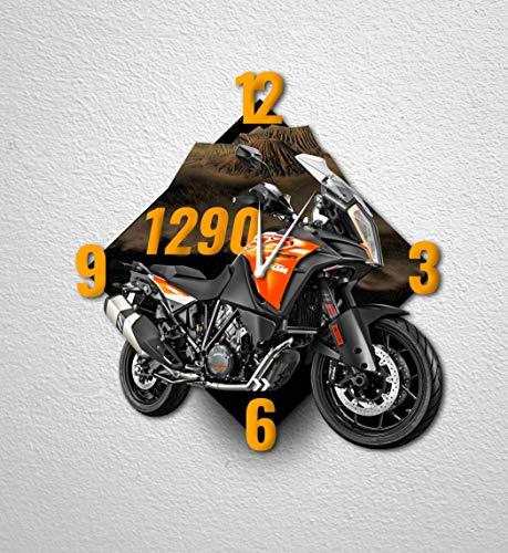 Motorrad-Wanduhr Dekoration für Haus, Büro, Hotel, Restaurant - Motorrad 1290 super Adventure S - MTO-093 (40 cm)