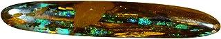 9.25 ct AIG CERTIFIED FANCY CUT (39 x 6 mm) Ópalo AUSTRALIAN KOROIT BOULDER NATURAL LOOSE GEMONE