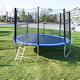 PUTEARDAT 6 - 12 FT 𝕋rampoline with Enclosure Net Jumping Mat and Spring Cover Padding Indoor or Outdoor Backyard 𝕋rampoline for Kids, Adults , Max Load 440 - 600 lbs (12 FT)