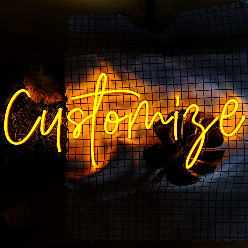 """PHEASANT Dimmable Custom Neon Signs for Bedroom Wall Decor Wedding Events Boutique Personalized Gift Unique Handmade Led Neon Lights (1 Line Text, 15"""")"""