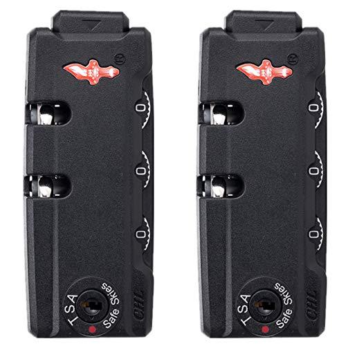 (YF-S028#) Un par/Set de bloqueo de contraseña de reemplazo para maletas equipaje viaje caja de contraseña reparación DIY (negro)