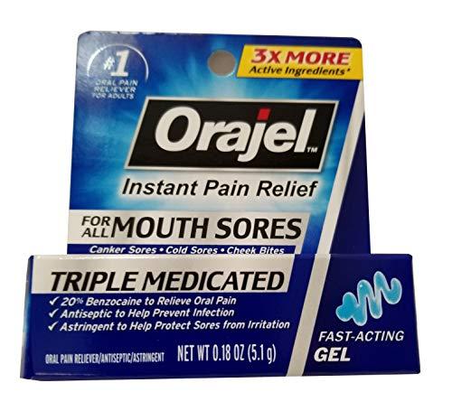 Orajel Mouth Sore Relief Gel Maximum Strength  018 oz Pack of 2