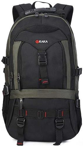 XHCP Sac à Dos pour l'extérieur, 35L Sac à Dos de randonnée léger Multifonctionnel pour Camping Trekking Décontracté, Vert