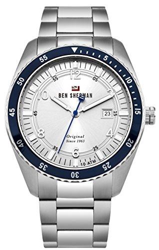 Ben Sherman Herren Analog Quarz Uhr mit Edelstahl Armband WBS107SM