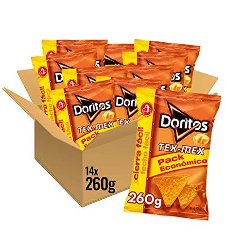 Doritos Tex-Mex 260g - Sabor a Queso - Pack de 14