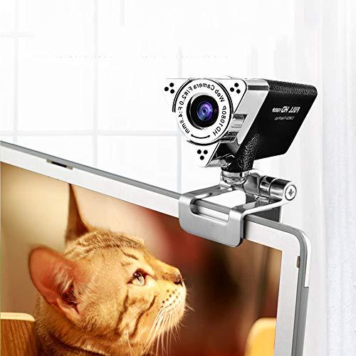 YWZQ 1080P HD Webcam, HD Drive Libre de Ruido de cámara Reducción de Ordenador con micrófono Incorporado USB Plug & Play para Las conferencias Llamadas de Video de Escritorio PC portátil