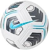 NIKE CU8047-102 NK Academy - Team Recreational Soccer Ball Unisex-Adult White/Black/(lt Blue Fury) 5
