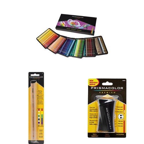 Prismacolor Premier Soft Core Colored Pencil, Set of 150 Assorted Colors with Blender Pencil and Pencil Sharpener