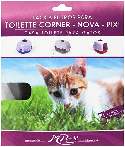 Aquivet Filtro caseta higiénica gatos - Pixi - 3 uds