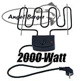 Angel-Berger Elektroheizung für Räucherofen Räucherheizung Heizspirale 2000 W