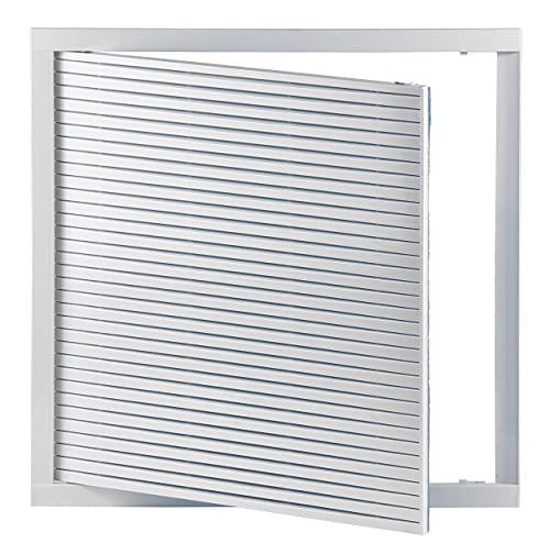 Haeusler-Shop - Rejilla de ventilación empotrable (40 x 40 cm, con filtro, 400 x 400 mm), color blanco