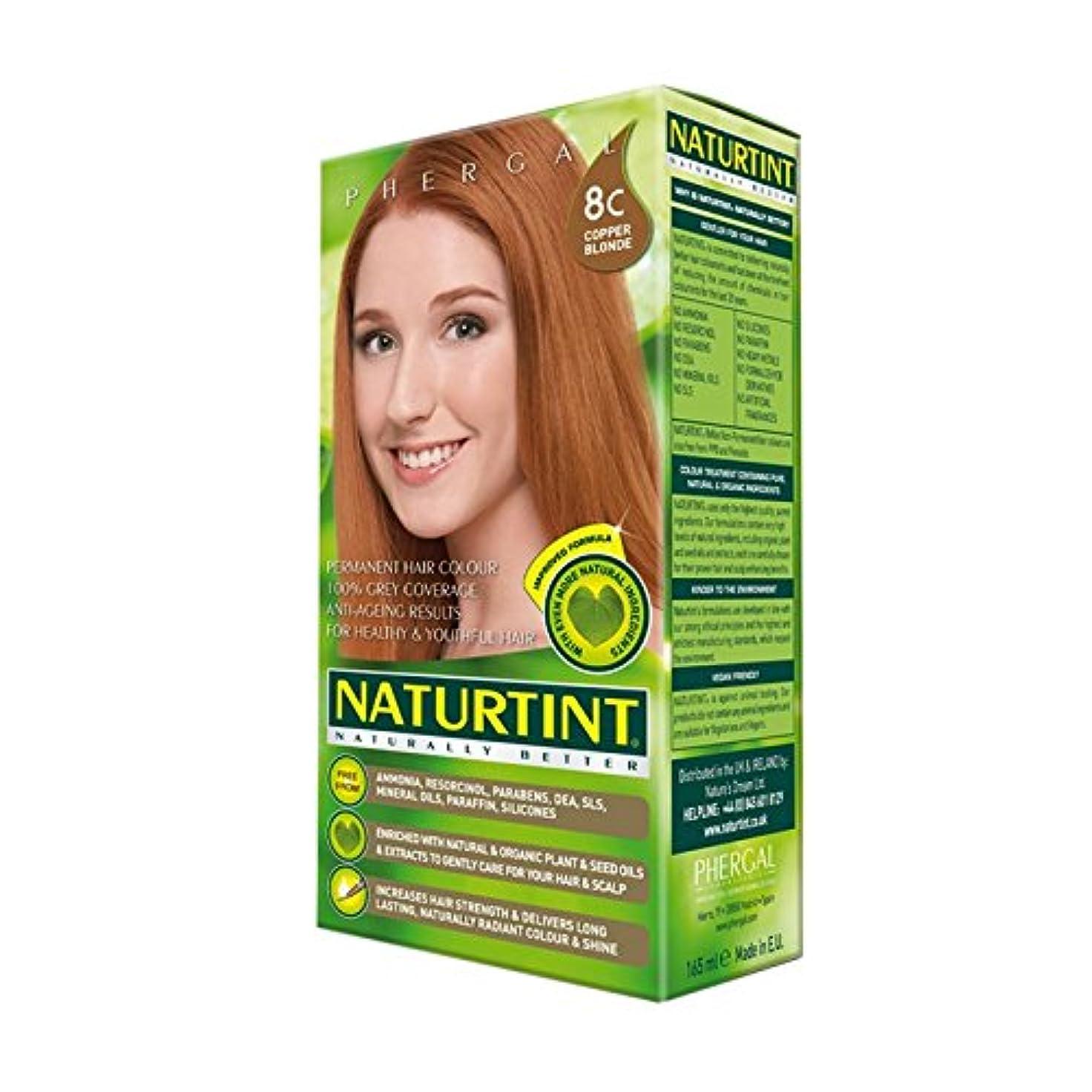 ポーク例外シンプトンNaturtint Hair Colour 8C Copper Blonde (Pack of 2) - Naturtint髪色8Cは銅ブロンド (x2) [並行輸入品]