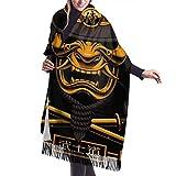 Bufanda de mantón Mujer Chales para, Bufanda de cachemir samurái japonés para mujer y hombre, cómodo chal, bufanda para abrigo, bufandas cálidas y acogedoras de invierno