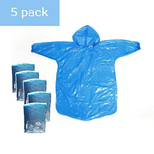 NFP Poncho de pluie /à capuche bleu