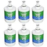 Aqua Fresh DA29-00003G Water Filter Replacement for Samsung DA29-00003B, DA29-00003F, DA29-00003A, HAFCU1, HDX FMS-1, RSG257AARS, RFG237AARS, RFG297AARS, RS22HDHPNSR Refrigerator (6 Pack)
