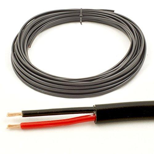* 16,5Amp spezifische * 1mm2dünn 2Twin Core Kabel Draht Auto LED Lampen (10Mio. Coil)