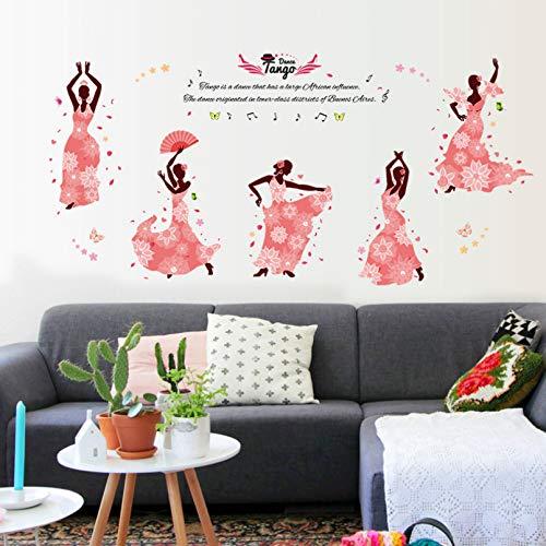 TAOYUE 145 * 68Cm Wall Sticker Pink Dress Dance Home Decor for Kids Room Vinyl DIY Art Wall Decals Creative Room Decoration