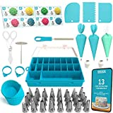 Cake Decorating Tools 100-Piece Piping Bags and Tips Set Cake Decorating Supplies with 32 Piping...