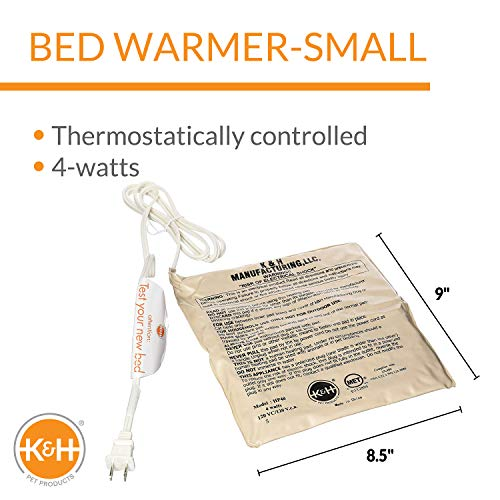 K&H Pet Bed Warmer, 4 Watts, Small 8-1/2 By 9-1/2 Inches