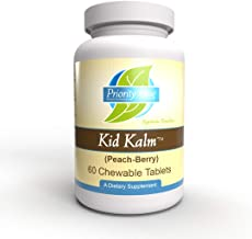 Priority One Vitamins Kid Kalm (Kinder Calm) Peach-Berry Flavor 60 Chewable Tablets - Promoting a Calm Relaxed State of Mi...