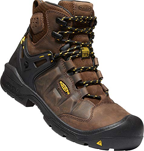 "KEEN Utility - Men's Dover 6"" Waterproof Composite Toe Work Boots for Construction, Landscaping, Maintenance, Transportation and Utilities, Dark Earth/Black, 12 M US"