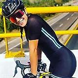 Traje de ciclismo para mujer, Manga corta Secado rápido Jersey de ciclismo con cojín de gel, Triathlon Triathlon Traje (Color : 2, Size : XXXX-Large)