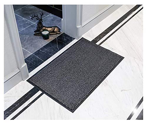 Mats Monocromo Entrada Calzado absorción de Agua Antideslizante Resistente al Aceite Entrada Puerta Alfombra Alfombra (Color : Grau, Size : 80x120cm)