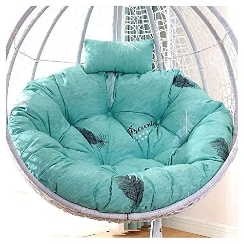 Cojines colgantes para sillas con forma de huevo, Cojín para columpios para interiores y exteriores, Cojín para sillas con cesta colgante para patio y jardín, Cojín para sillas de hamaca para colgar