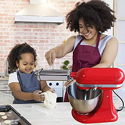 S SMAUTOP Pasta Roller And Cutter Set for All Types KitchenAid Stand Mixer,Including Pasta Sheet Roller, Spaghetti Cutter, Fettuccine Cutter
