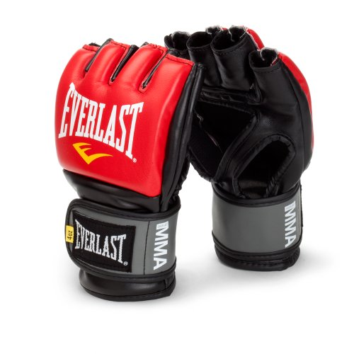 Everlast Pro Style MMA Grappling Gloves, Small/Medium, (Red)