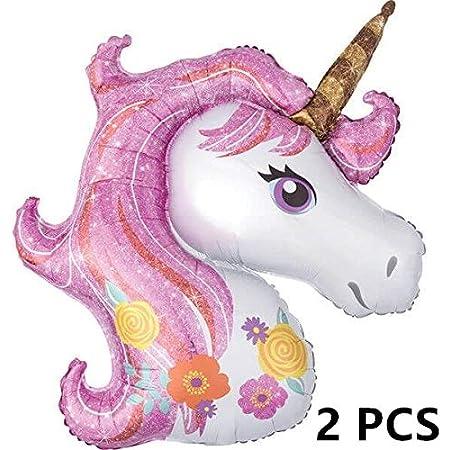 Mini Baby Shower Favor Birthday Party Children Animal Unicorn Head Balloon Decor Rainbow Party Supplies Wedding Child Toy Mini Unicorn Head Rainbow
