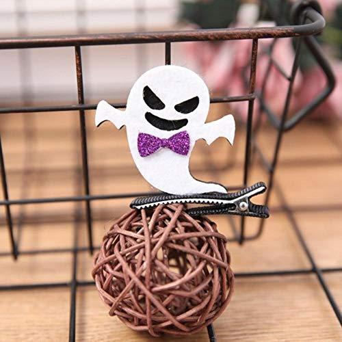 Houer Horquillas de Calabaza de Halloween Diablo Alas de murciélago Horquillas Tocado Traje Niños Fiesta de Halloween Cosplay Decoración para el Cabello, C