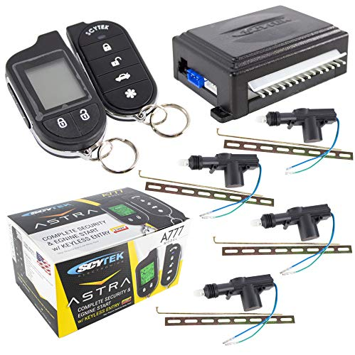 Car Alarm Security System, Keyless Entry 2-Way LCD 4 Door Locks Scytek A777