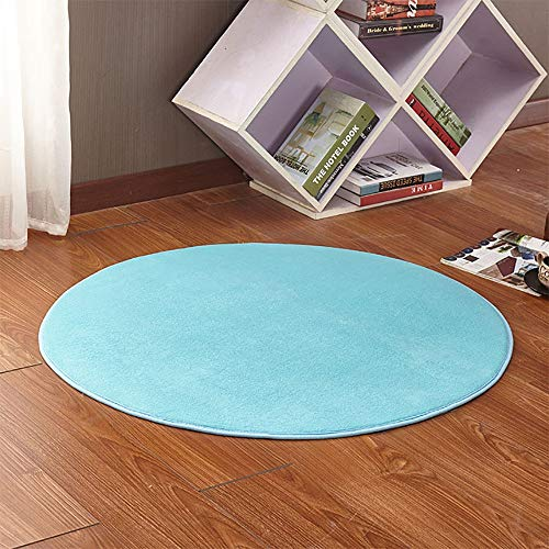 Kids Play Tent Mat, Round Play Tent Rug Soft Cushion Floor Pad Mat For Kids Princess Castle Playhouse Outdoor Playhouse Mat 0927 (Color : Blue, Size : 140CM/55.1inch)