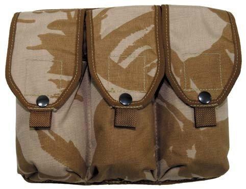 Porte style bRIT. triple munitionstasche dPM desert étui inclus-camouflage