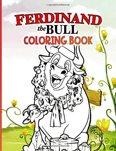 Ferdinand The Bull Coloring Book: Ferdinand The Bull Stress-Relief Coloring Books For Kids And Adults
