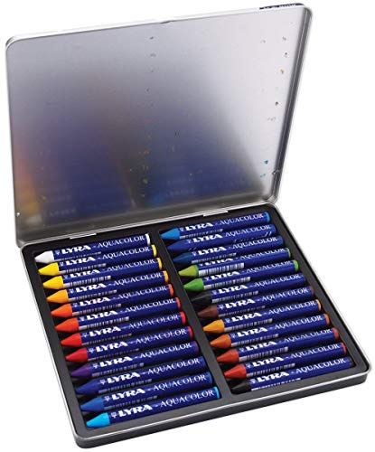 LYRA Aqua Color Water-Soluble Wax Crayons, Set of 24, Assorted Colors (5611240) Photo #3