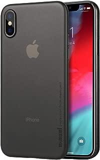 Compatible con iPhone XS Max Funda, Ultra Slim Anti-Rasguño y Resistente Huellas Dactilares Protectora Caso de Plástico Duro Cover Case Compatible con iPhone XS Max [Slim Series] Negro Transparente